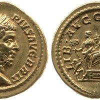 Aureus of Geta as emperor